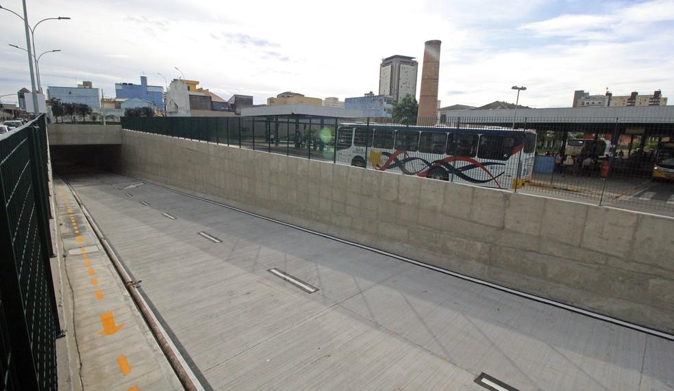 Segundo túnel do Complexo Viário Tirreno Da San Biagio em Mogi das Cruzes (Foto: Ney Sarmento/PMMC)