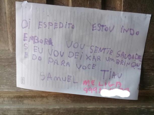 Após mudar de bairro, menino de 7 anos deixa carta e brinquedo preferido de recordação para amigo no AC - Notícias - Plantão Diário