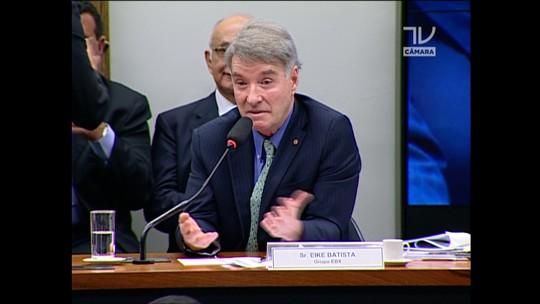 Em CPI, Eike nega investimento de fundos de pensão nas empresas dele