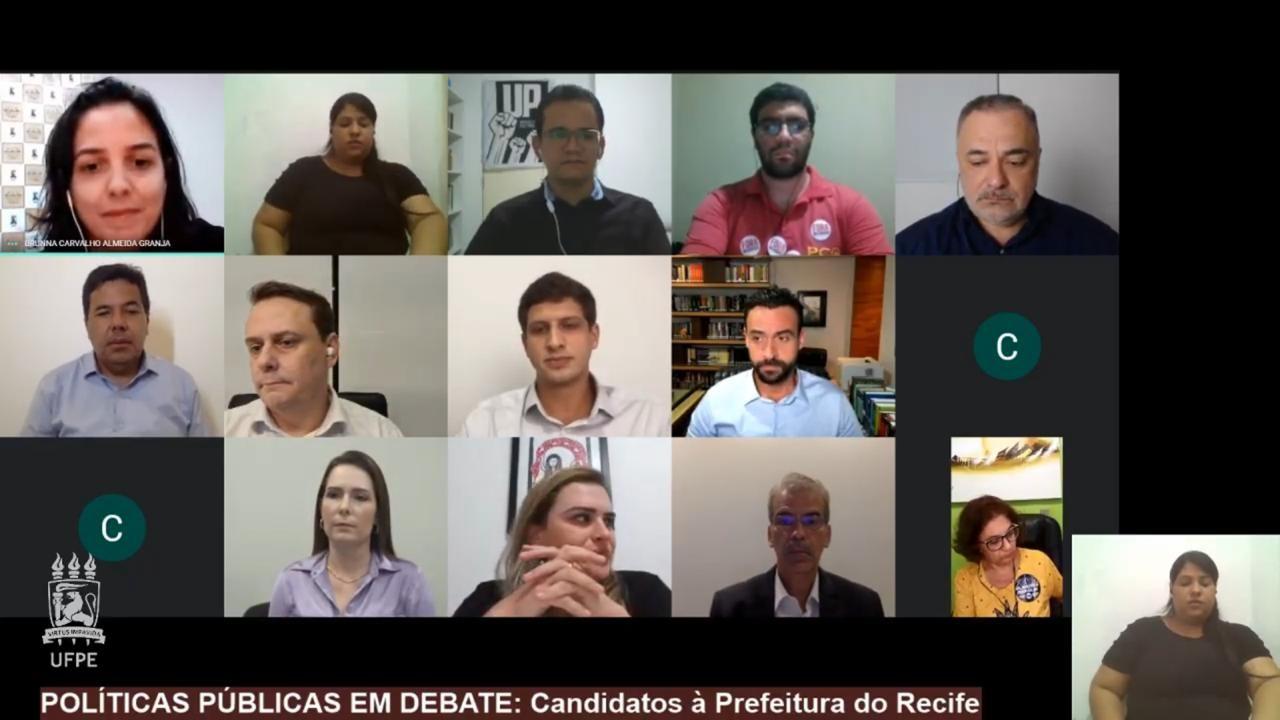 Onze candidatos a prefeito do Recife participam de debate promovido pela UFPE; veja propostas
