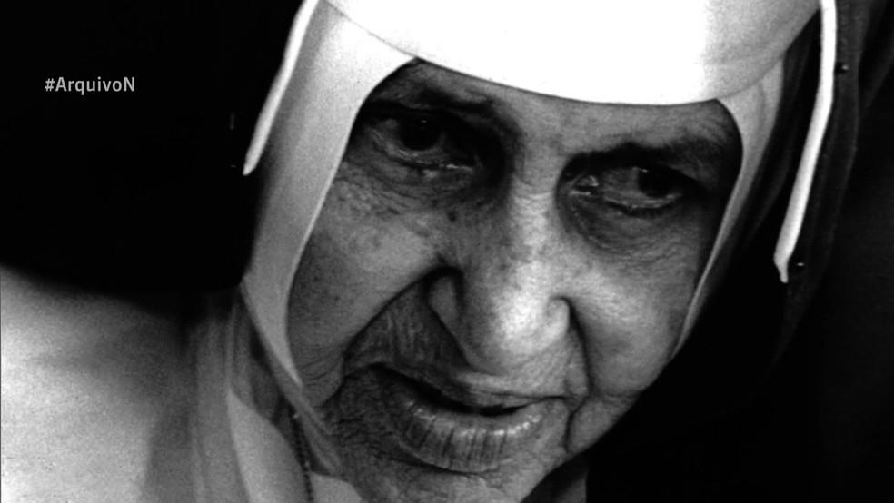 Irmã Dulce teve primeiro milagre reconhecido em 2010 — Foto: GloboNews