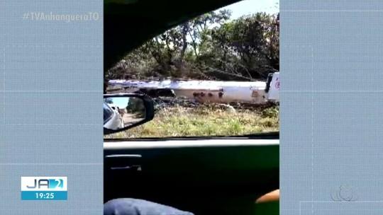 Acidente entre três veículos deixa um homem ferido na TO-080