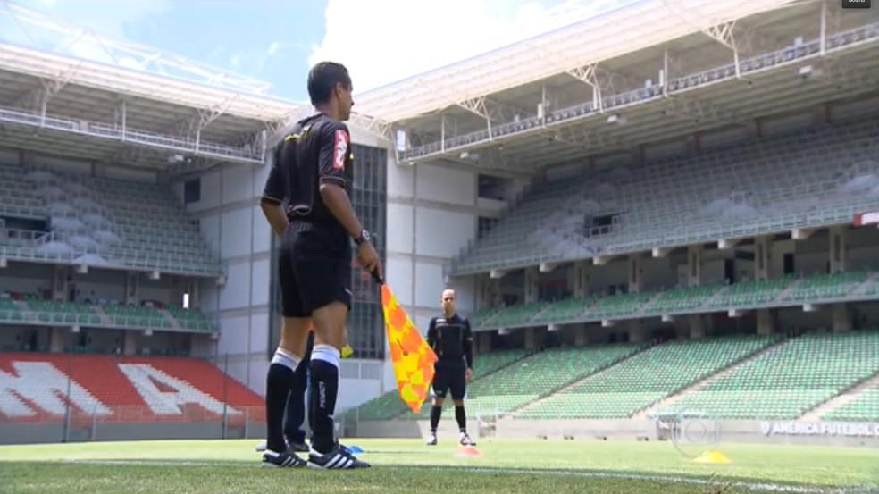 Guilherme Dias Camilo admitiu erro em lance no empate entre Patrocinense e Cruzeiro — Foto: Reprodução