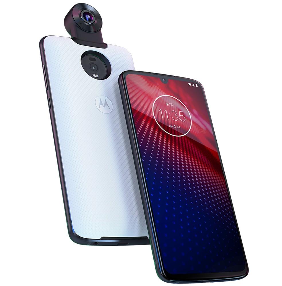 Moto Z4 é anunciado nos Estados Unidos com suporte a Moto Snap 5G — Foto: Divulgação/Motorola