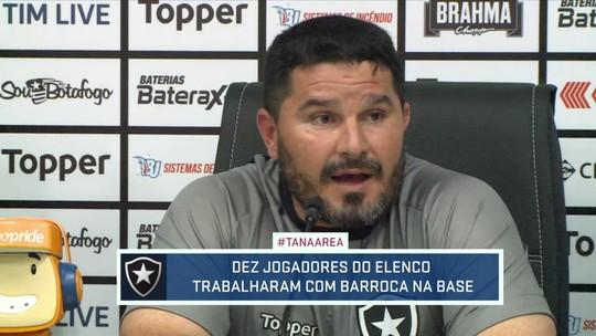 Botafogo apresenta novo treinador, que já comanda a primeira atividade