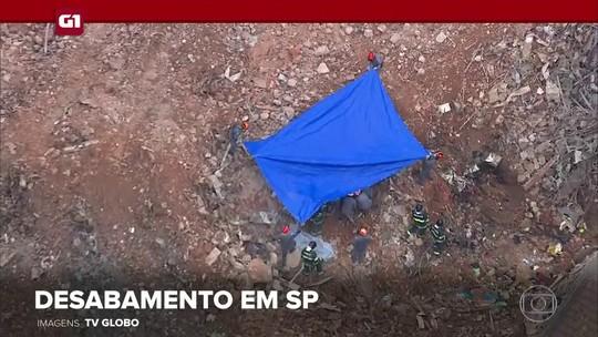 G1 em 1 Minuto: Bombeiros encontram 2º corpo em escombros de prédio que desabou em SP