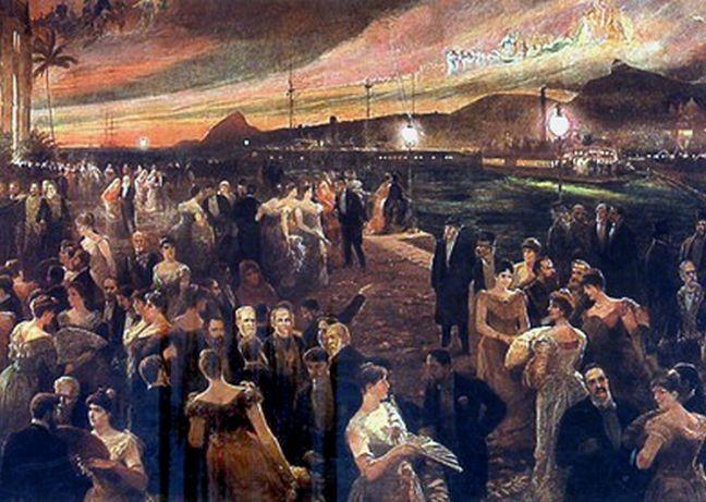 O Último Baile do Império (Baile da Ilha Fiscal). Óleo sobre tela, Francisco Figueiredo (Foto: Museu Histórico Nacional)