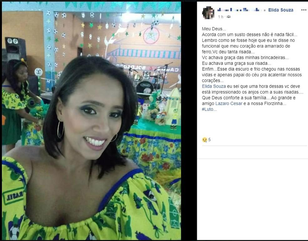 Professora Élida tinha 32 anos e foi morta a tiros — Foto: Reprodução / Redes Sociais