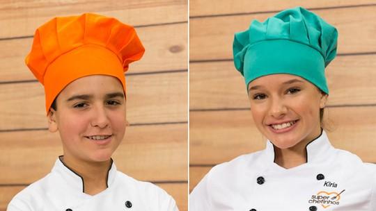 Biel e Kiria garantem vaga na final do 'Super Chefinhos'