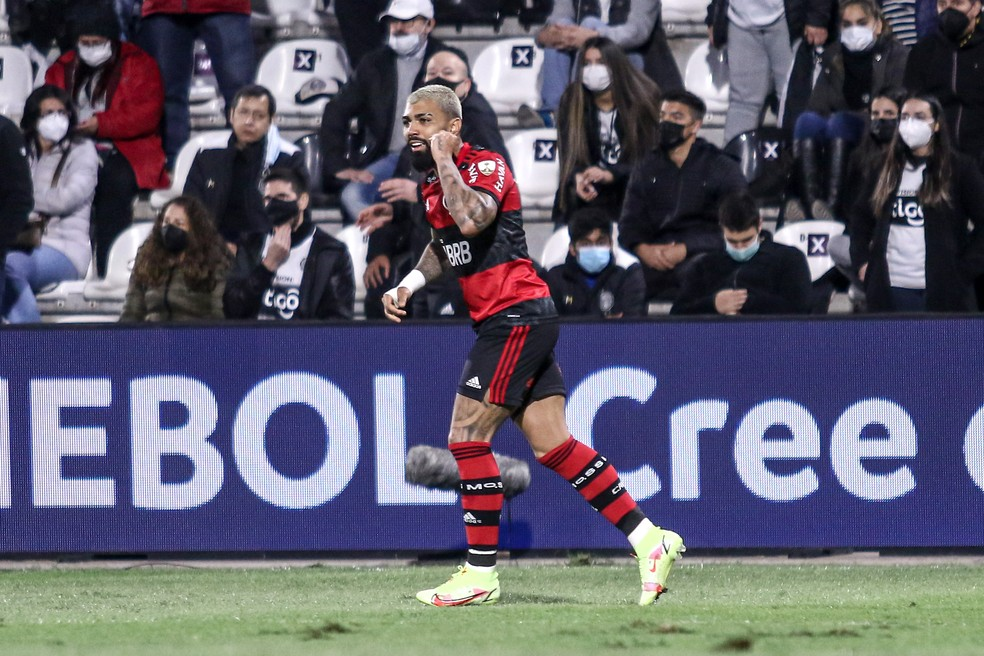 Olimpia x Flamengo: Gabigol comemora o segundo gol do Flamengo - Staff Images / CONMEBOL