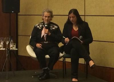 A especialista em bem-estar animal Temple Grandin em visita ao Brasil (Foto: Vinicius Galera )