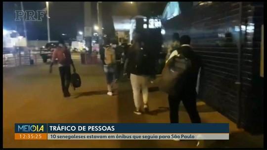 Dez imigrantes senegaleses ilegais são abordados em ônibus na BR-277