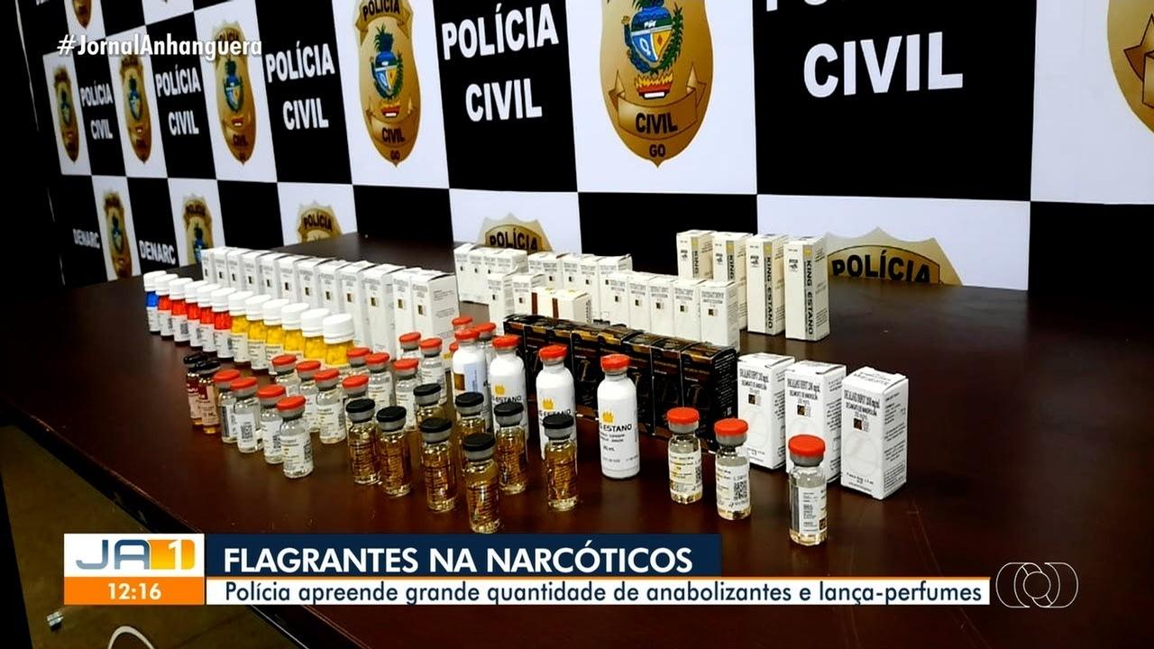 Polícia apreende anabolizantes e lança-perfumes em Goiânia