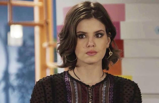 Na terça-feira (28), Vanessa (Camila Queiroz) aceitará participar do plano de Jerônimo (Jesuíta Barbosa) para separar Quinzinho (Caio Paduan) de Dandara (Dandara Mariana) (Foto: TV Globo )