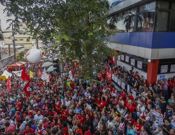 A sede do Sindicato dos Metalúrgicos no ABC (Foto: Miguel Schincariol/AFP)