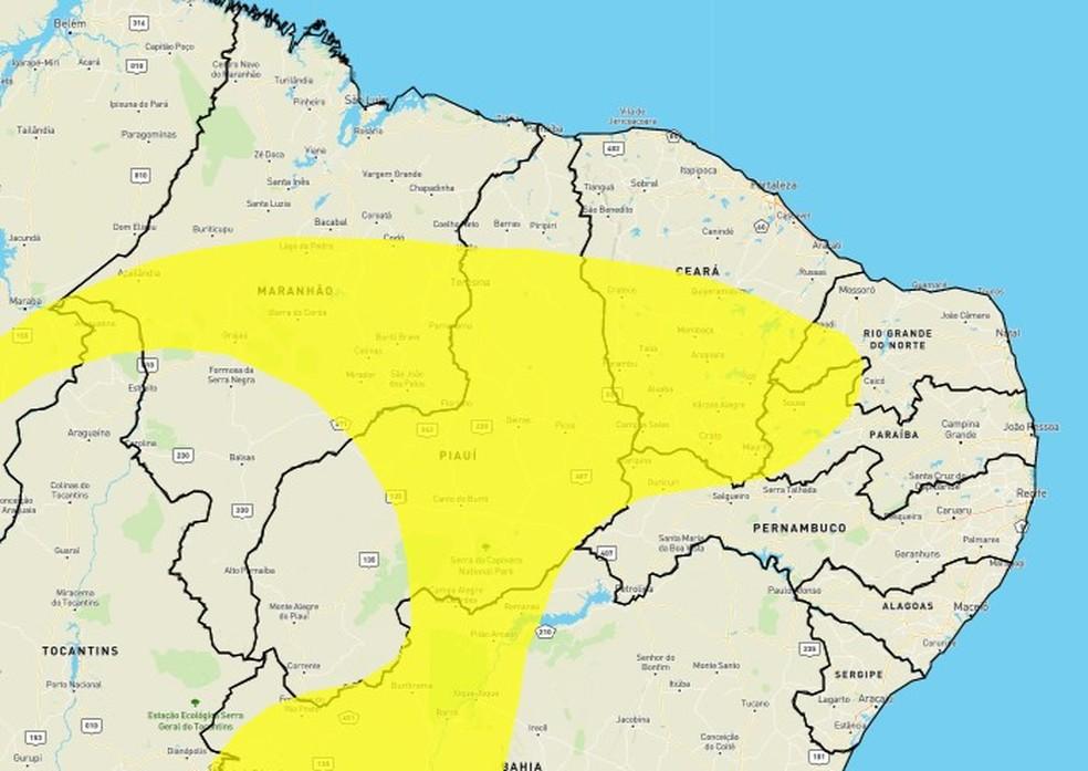 Inmet emite alerta de baixa umidade para 45 cidades do RN — Foto: Reprodução