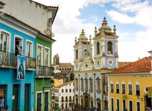 O Pelourinho é um dos lugares mais visitados da Bahia (Foto: Bigstock/ Reprodução)