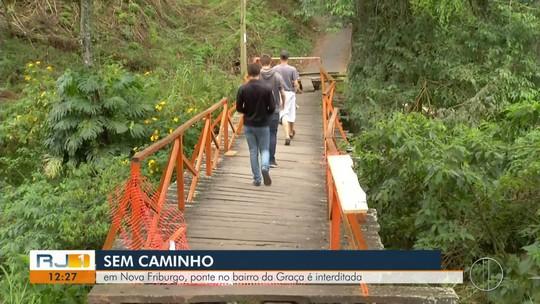 Moradores pedem recuperação de ponte que está em estado precário em Nova Friburgo, no RJ
