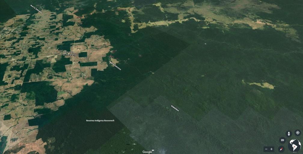Mapa mostra localidade do distrito de Boa Vista do Pacarana, região onde caminhão-tanque pegou fogo.  — Foto: Reprodução/Google Earth