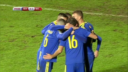 Em jogo de duas viradas e sete gols, Bélgica vence e complica a Bósnia