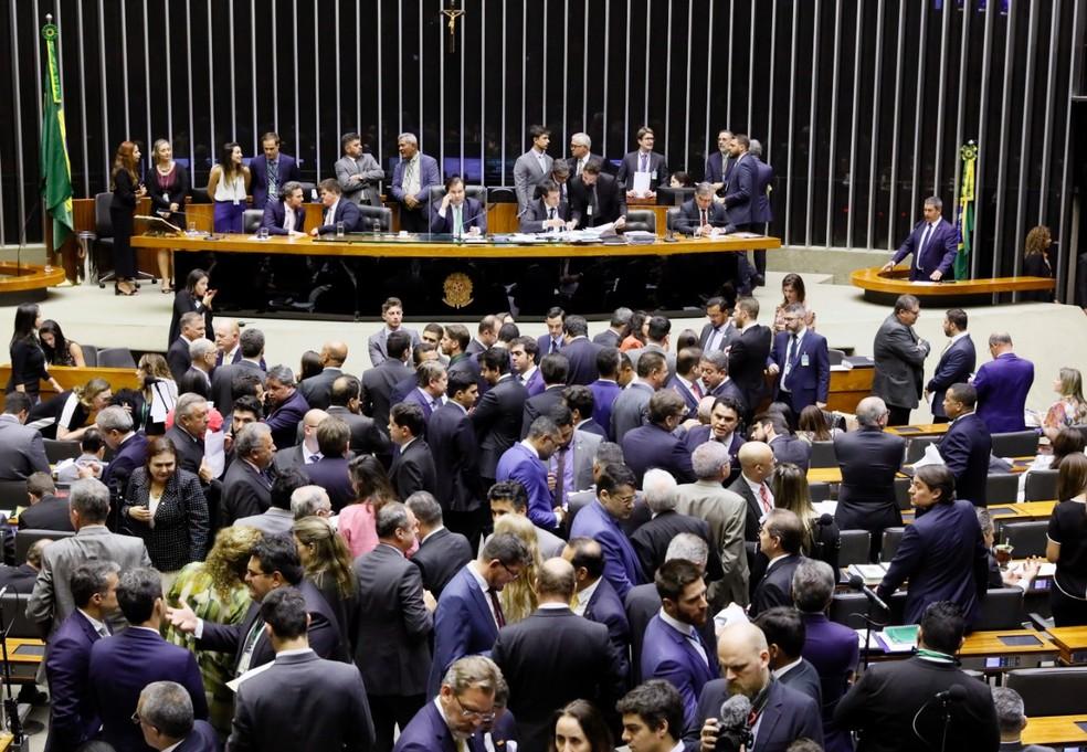 Deputados reunidos no plenário da Câmara — Foto: Luis Macedo / Câmara dos Deputados