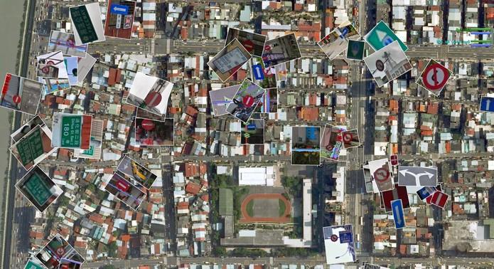 Vista de cima da cidade de Taipei, Taiwan, por meio do Google Maps (Foto: Reprodução/Google)
