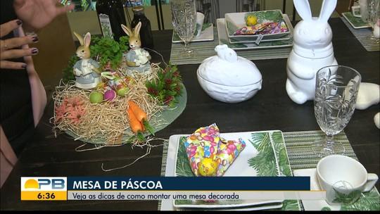 Vejas as dicas do Bom Dia Paraíba de como montar uma mesa decorada para a Páscoa