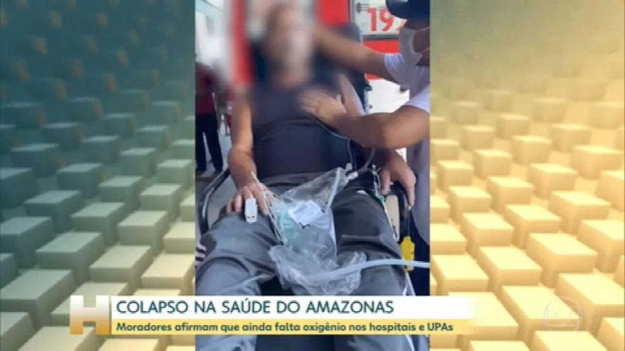 Parentes de pacientes com Covid em Manaus dizem que oxigênio ainda está em falta nos hospitais