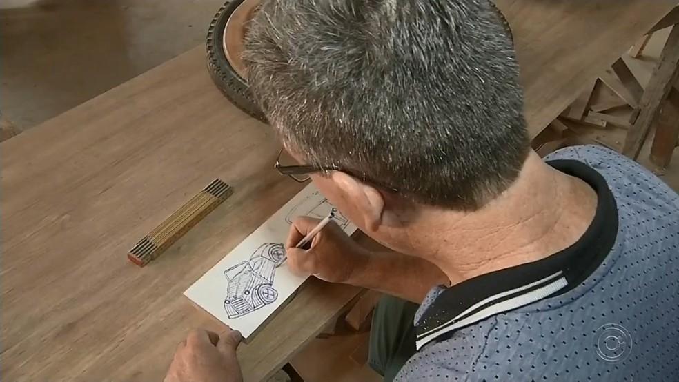 Luís desenhou e colocou em prática o projeto em Santa Fé do Sul  — Foto: Reprodução/TV TEM