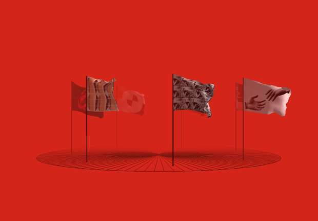 Bandeira para Marte - exposição da Space10, laboratório da Ikea (Foto: Divulgação)