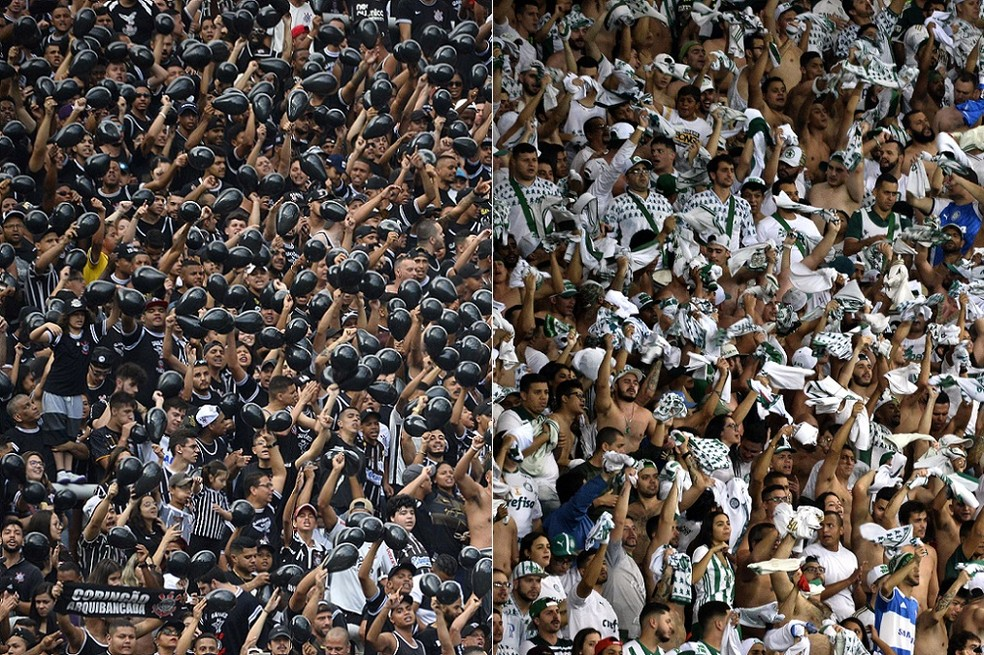 Corinthians e Palmeiras dominam ranking de rendas anuais no futebol brasileiro — Foto: GloboEsporte.com