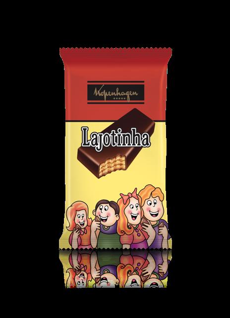 Lajotinha: wafer com recheio de castanha de caju e canela, cobertura de chocolate ao leite; Preço sugerido de R$13 (Foto: Divulgação)
