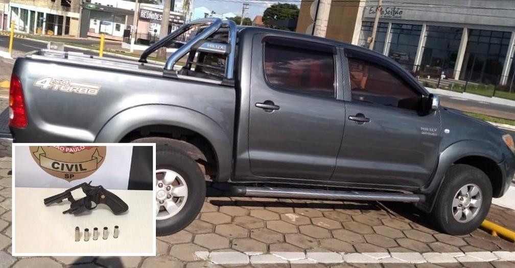 Polícia Civil aguarda laudos da perícia na caminhonete e na arma utilizadas no crime para concluir inquérito — Foto: Polícia Civil/Divulgação