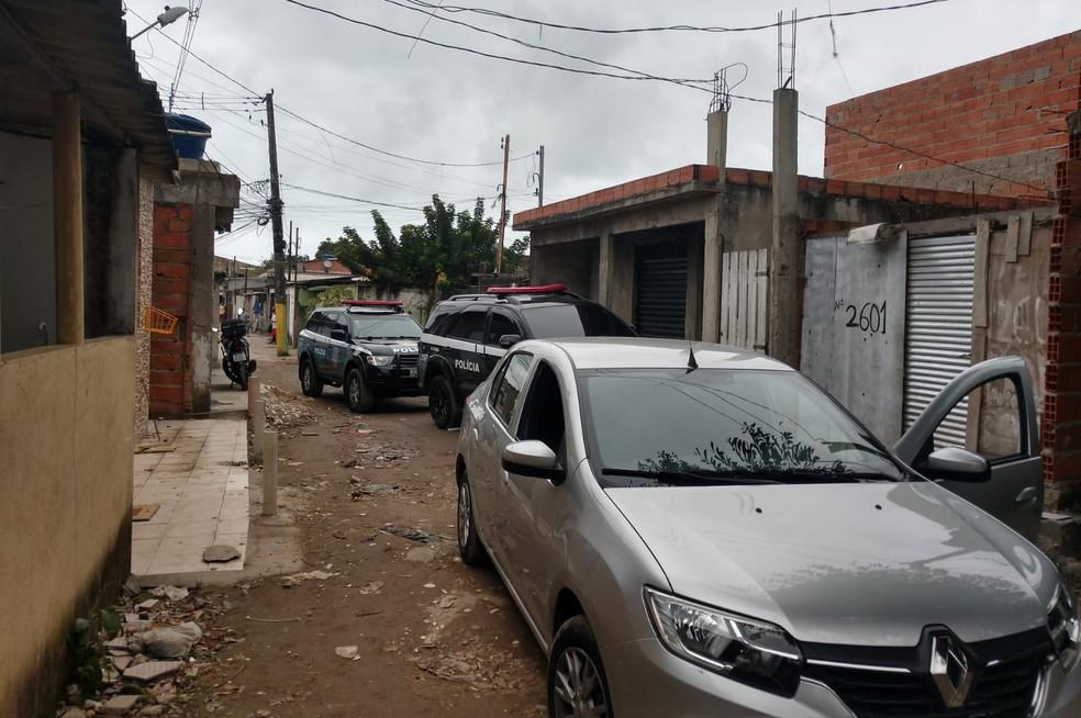 Prisão do suspeito de matar menina de 4 anos ocorreu em São Vicente, SP — Foto: Divulgação