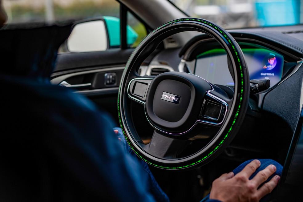 Carro autônomo poderá ser testado em velocidade maior e sem interferência do motorista em vias públicas da Suécia — Foto: Divulgação/Veoneer