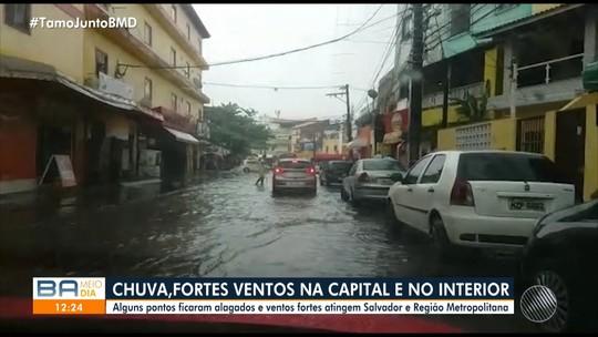 Frente fria traz chuva e ventos fortes para Salvador e cidades do interior da Bahia