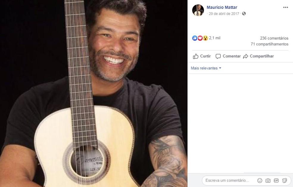 Ator e cantor Mauricio Mattar — Foto: Facebook/Reprodução