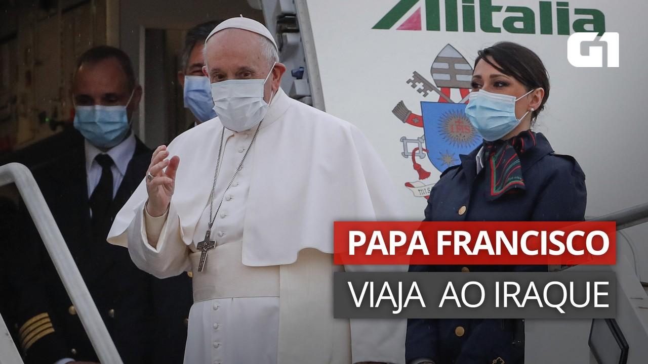VÍDEO: Papa Francisco viaja rumo ao Iraque