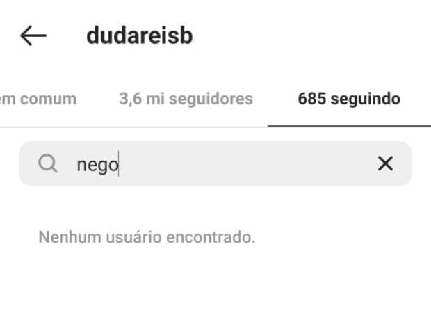 Duda Reis dá unfollow em Nego do Borel (Foto: Reprodução/Instagram)