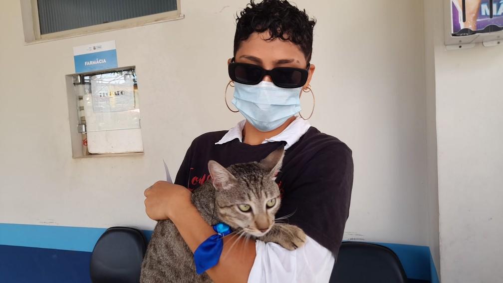 Gatos também estão sendo imunizados em Cortijuba até domingo  — Foto: Sesma/Divulgação
