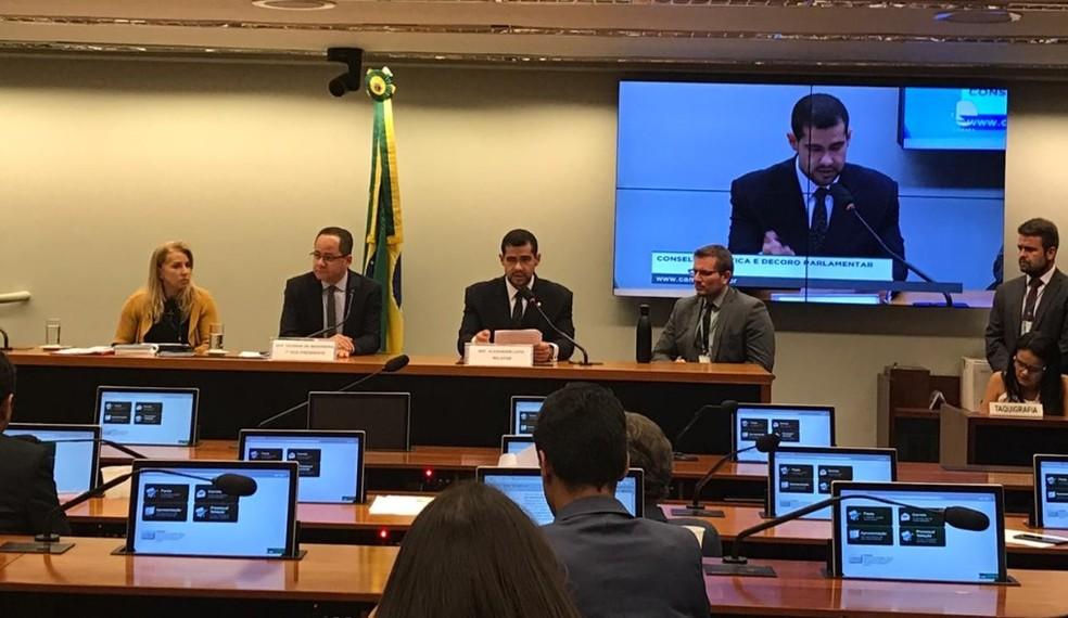 Deputados do Conselho de Ética discutem abertura de processo que pode levar à cassação de Glauber Braga — Foto: Larissa Passos/G1
