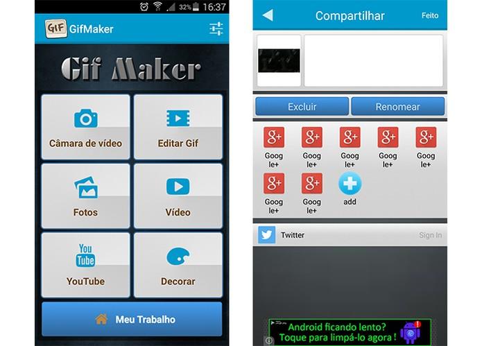 App GIF Maker permite criar animações com fotos e vídeos (Foto: Reprodução/Barbara Mannara)