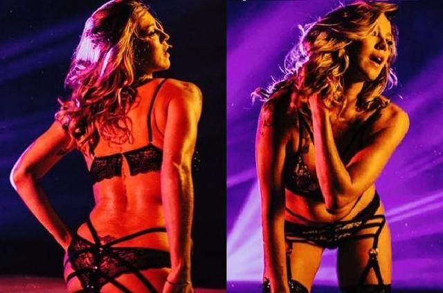 Luana Piovani como Michelly em 'O clube' (Foto: Reprodução)