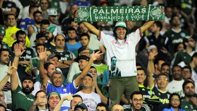 Torcida do Palmeiras na partida contra o Flamengo
