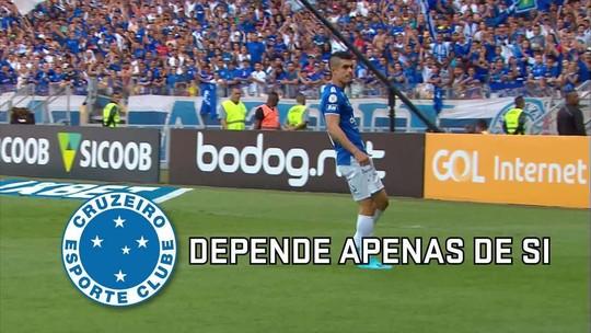 Cruzeiro ganha injeção de ânimo, faz partida decisiva e tenta mudar história ao depender de si