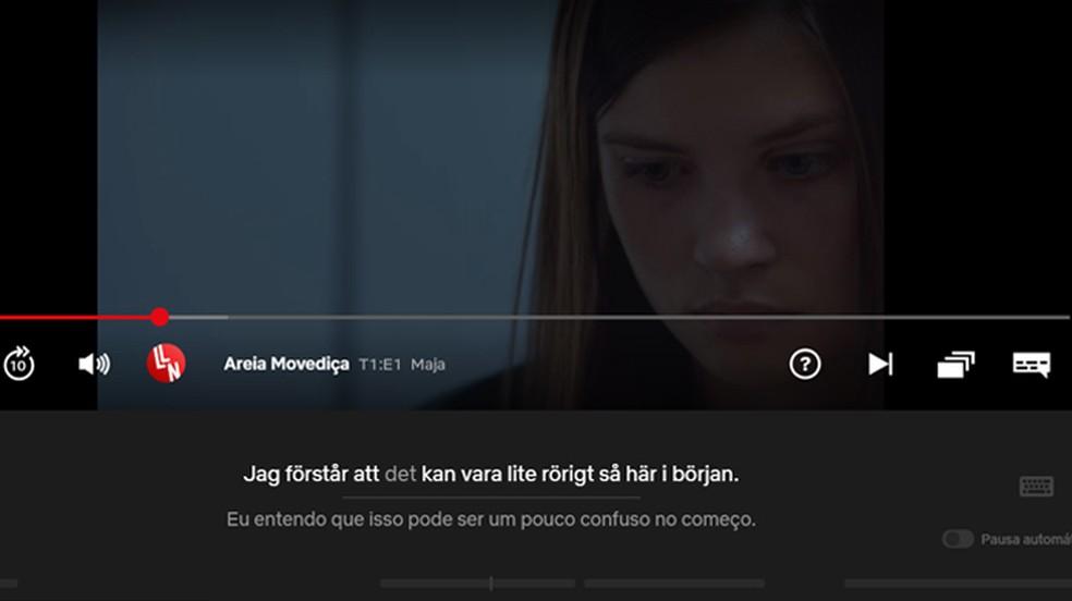 Language Learning with Netflix traduz diversos idiomas, como o sueco — Foto: Reprodução/Gabrielle Ferreira