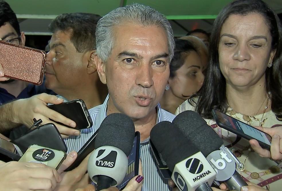Reinaldo Azambuja (PSDB) é reeleito governador de Mato Grosso do Sul em segundo turno neste domingo (28) — Foto: TV Morena/Reprodução