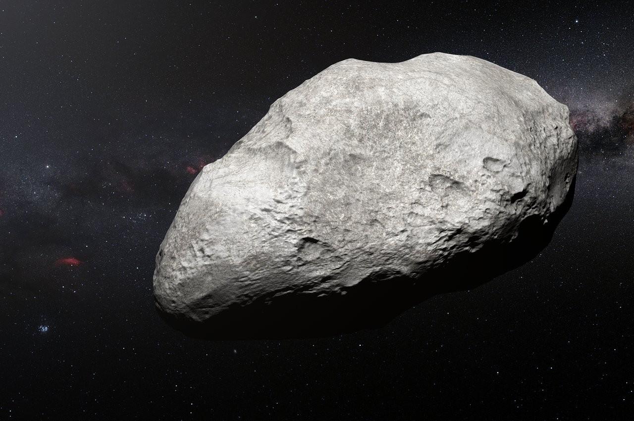 Concepção artística do asteroide 2004 EW95, que mede 300 km e fica a 4 bilhões de km da Terra  (Foto: ESO/M. Kornmesser)