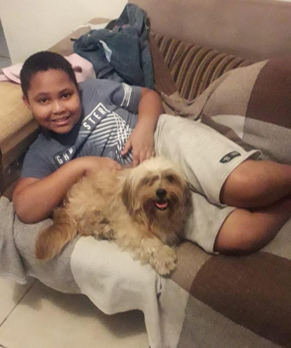 Nicollas faleceu na madrugada de quarta-feira (8) após passar mal enquanto brincava com os amigos perto de casa, em Cubatão (SP) — Foto: Arquivo Pessoal