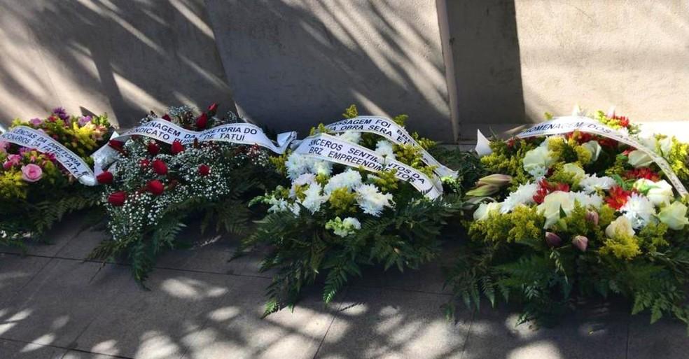 Centenas de moradores e familiares acompanharam funeral da Prefeita de Tatuí, Maria José Gonzaga (PSDB)  — Foto: Aline Galdino/ Arquivo Pessoal